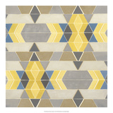 Blue and Yellow Geometry I Giclee Print by Megan Meagher