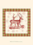Reindeer Toile I Poster by  Vision Studio