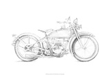 Motorcycle Sketch IV Giclee Print by Megan Meagher