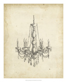 Classical Chandelier II Giclee Print by Ethan Harper
