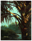 Dark Palm Giclee Print by Suzanne Wilkins