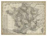 Antique Map of France Giclée-tryk af Vision Studio