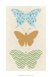 Butterfly Patterns IV Poster by Erica J. Vess