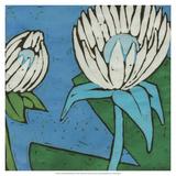 Turquoise Batik Botanical IV Giclee Print by Andrea Davis