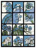 Asure Botanical I 12-Patch Giclee Print by Andrea Davis