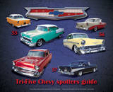 Tri Five Chevy Spotter Guide Tin Sign Tin Sign