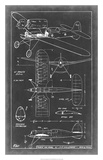 Aeronautic Blueprint II Giclee Print by  Vision Studio