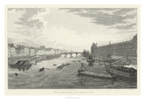 Pont Des Arts Giclee Print by A. Pugin