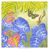 Tropical Monotype III Giclee Print by Carolyn Roth