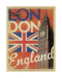 London, England (Flag) Giclee Print by  Anderson Design Group