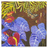 Tropical Monotype II Giclee Print by Carolyn Roth