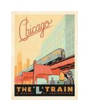 Chicago: The 'L' Train Lámina giclée por Anderson Design Group
