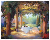 Vino al Fresco Giclee Print by Carolyne Hawley