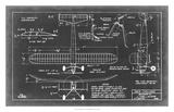 Aeronautic Blueprint VII Giclee Print by  Vision Studio