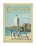 Ciudad del Cabo, Sudáfrica Lámina giclée por Anderson Design Group