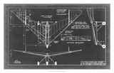 Aeronautic Blueprint V Giclee Print by  Vision Studio
