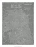 City Karte von San Francisco Giclée-Druck von  Vision Studio