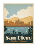 San Diego, Southern California Giclee Print by  Anderson Design Group