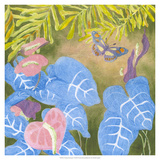 Tropical Monotype VI Giclee Print by Carolyn Roth