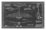 Aeronautic Blueprint VI Giclee Print by  Vision Studio