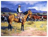 gran vaquero americano, El|Great American Cowboy, The Lámina giclée por Jack Sorenson