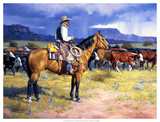 Great American Cowboy Giclee Print by Jack Sorenson