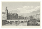 Pont Au Change Giclee Print by A. Pugin