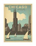 Chicago: The Windy City Giclee Print by  Anderson Design Group