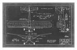 Aeronautic Blueprint VIII Giclee Print by  Vision Studio