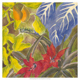 Tropical Monotype I Giclee Print by Carolyn Roth