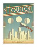 Houston, Texas: Space City Lámina giclée por Anderson Design Group