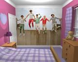 One Direction Hypätä seinän peittävä seinämaalaus Tapettijuliste