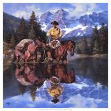 Reflections of the Rockies Giclee Print by Jack Sorenson