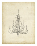 Classical Chandelier IV Giclee Print by Ethan Harper