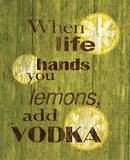 Life Lemons Vodka Tin Sign Tin Sign