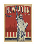 New York, NY (Statue of Liberty) Giclee Print by  Anderson Design Group