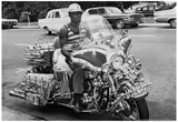 Custom Vintage Chopper Motorcycle Archival Photo Poster Posters