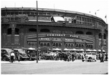 Comiskey Park Chicago Cubs Archival Photo Poster Print