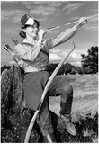 Female Archer Archival Photo Poster Photo