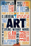 Art Speaks Without Words Poster Stampe