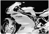 Ducati Vintage Motorcycle Archival Photo Poster Print