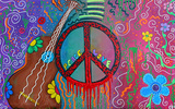 Hippie Peace and Love Poster Photo