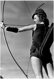 Female Archer Archival Photo Poster Posters