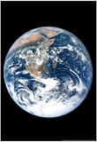 The Earth From Space Archival Photo Poster Poster