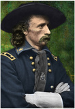 George Armstrong Custer Colorized Archival Photo Poster Affiche