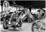Custom Vintage Chopper Motorcycle Archival Photo Poster Photo