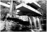 Frank Lloyd Wright Falling Waters Archival Photo Poster Posters by Frank Lloyd Wright