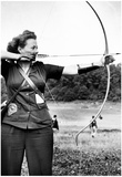 Female Archer Archival Photo Poster Prints