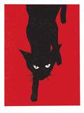 Black Cat 1 Kunstdrucke von  Print Mafia