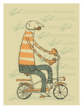 Hipster Bike Giclee Print by  Methane Studios